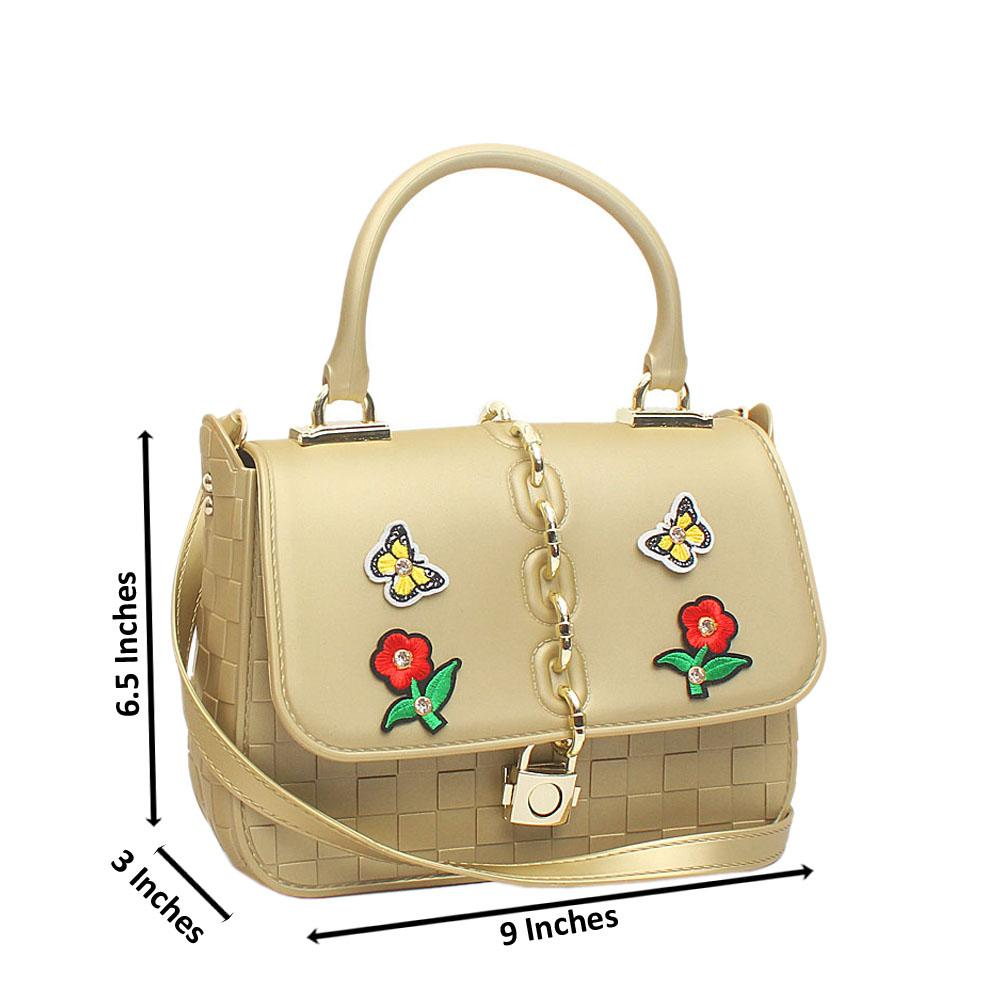 Gold Rubber Small Cutie Bag