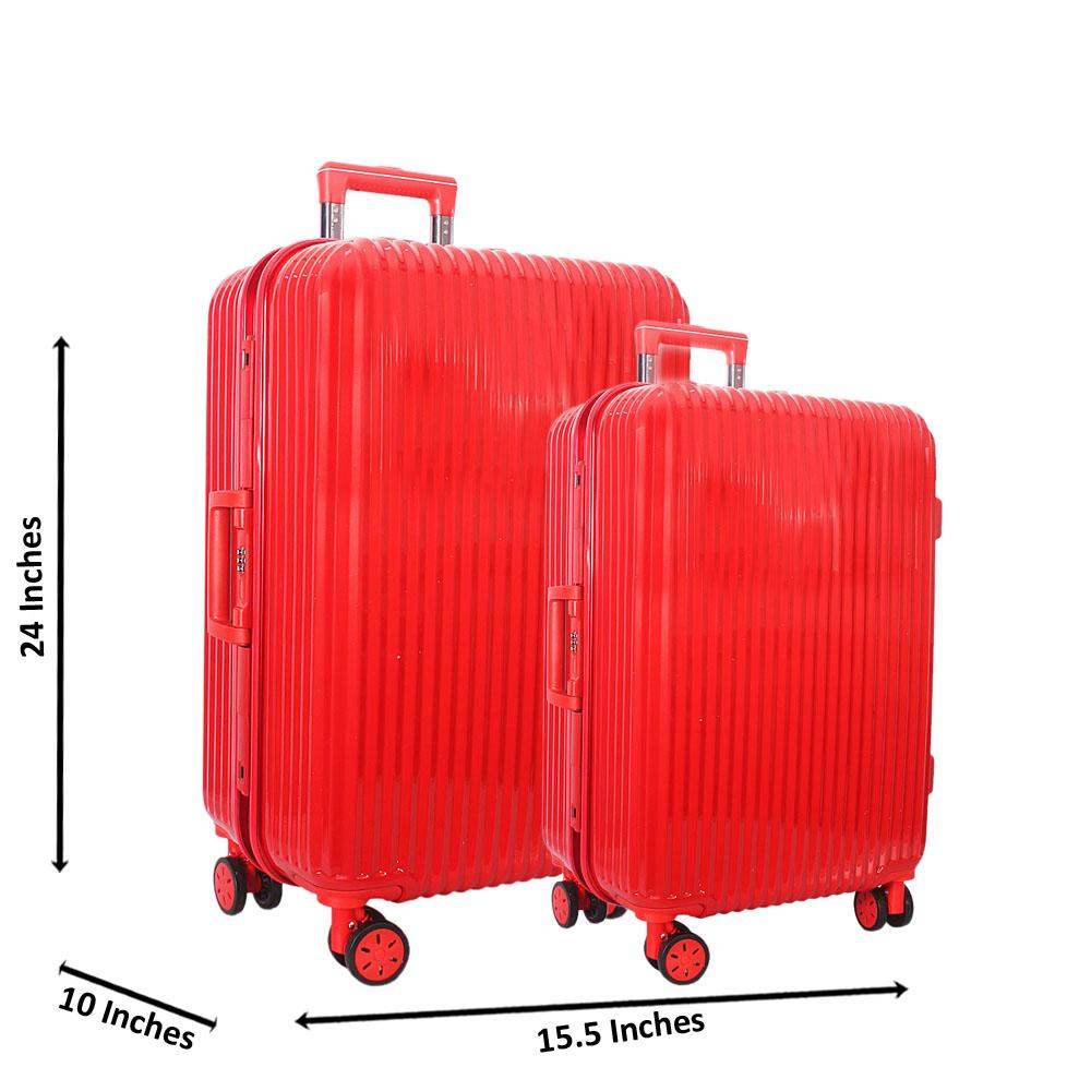 Red 24 inch Wt 20 inch 2 in 1 Hardshell Luggage Set Wt TSA Lock