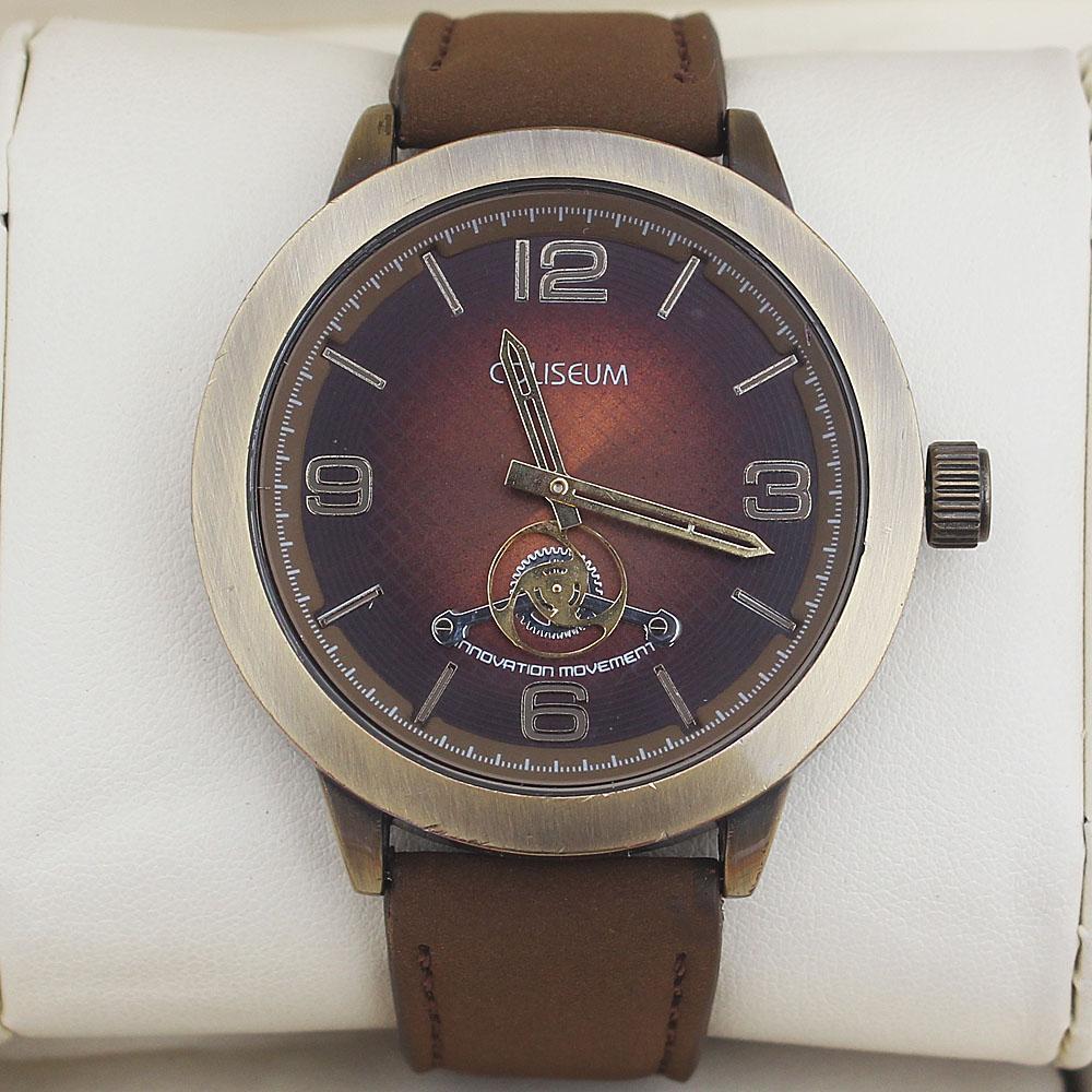 Coliseum  Einstien Brown Leather Men's Fashion Watch-
