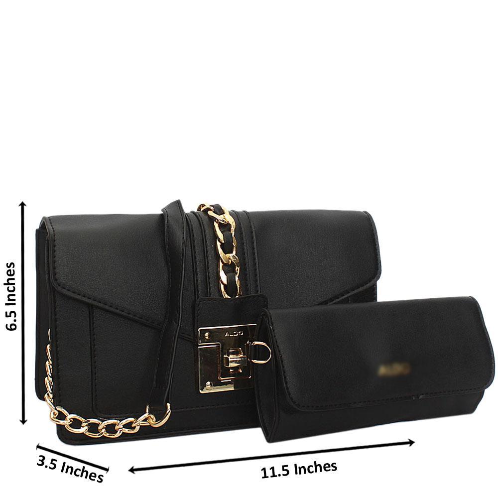 Black Alexa Leather Crossbody Handbag