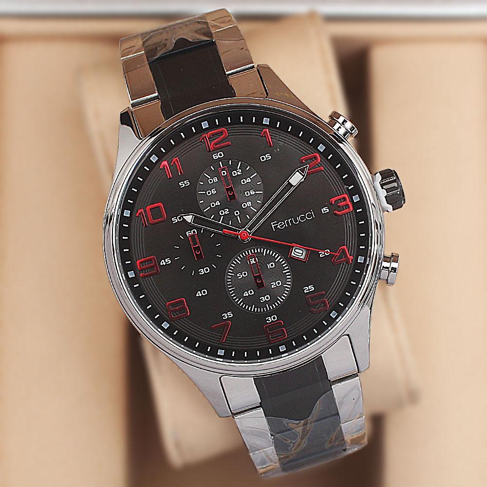 Ferrucci Tommy Black Stainless Steel Fashion Watch