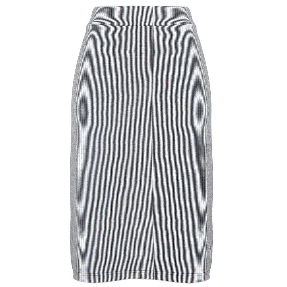 Monochrome Cotton Stretch Skirt