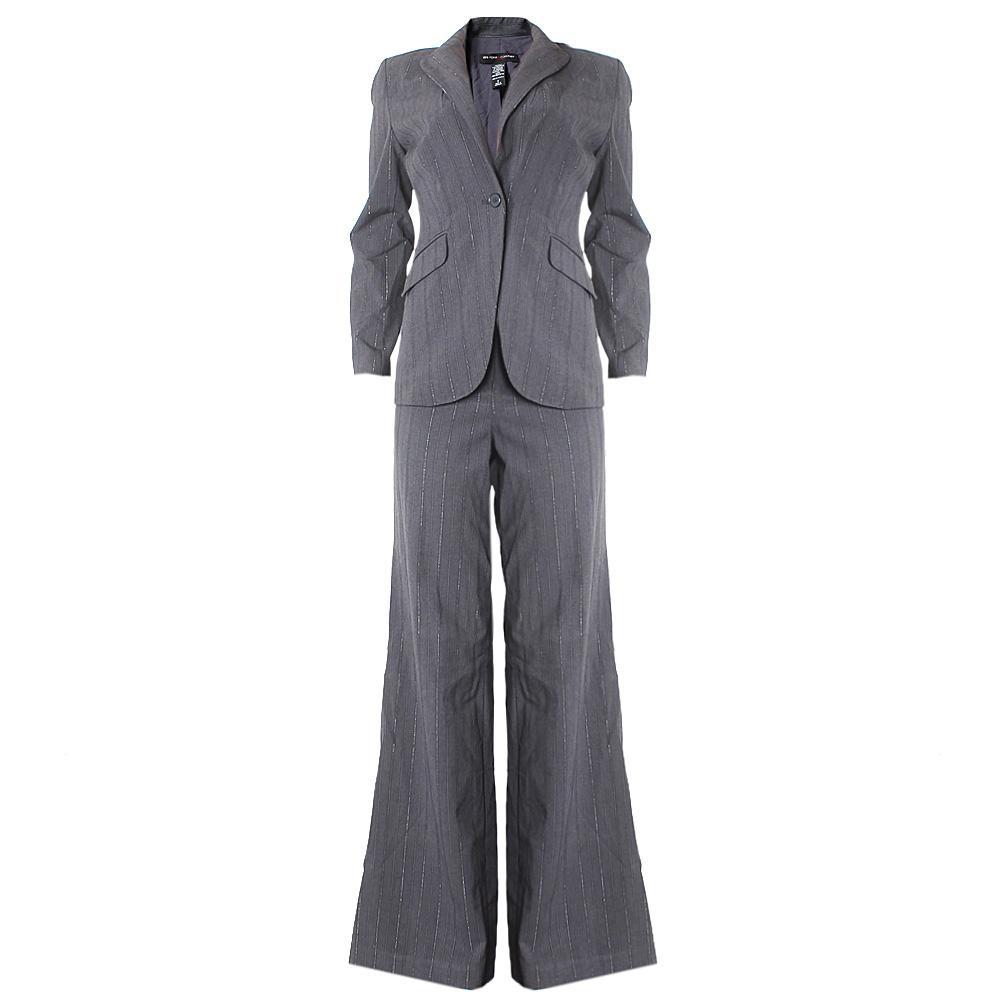 Newyork & Company Gray Stripe Ladies Trouser Suit Sz 4