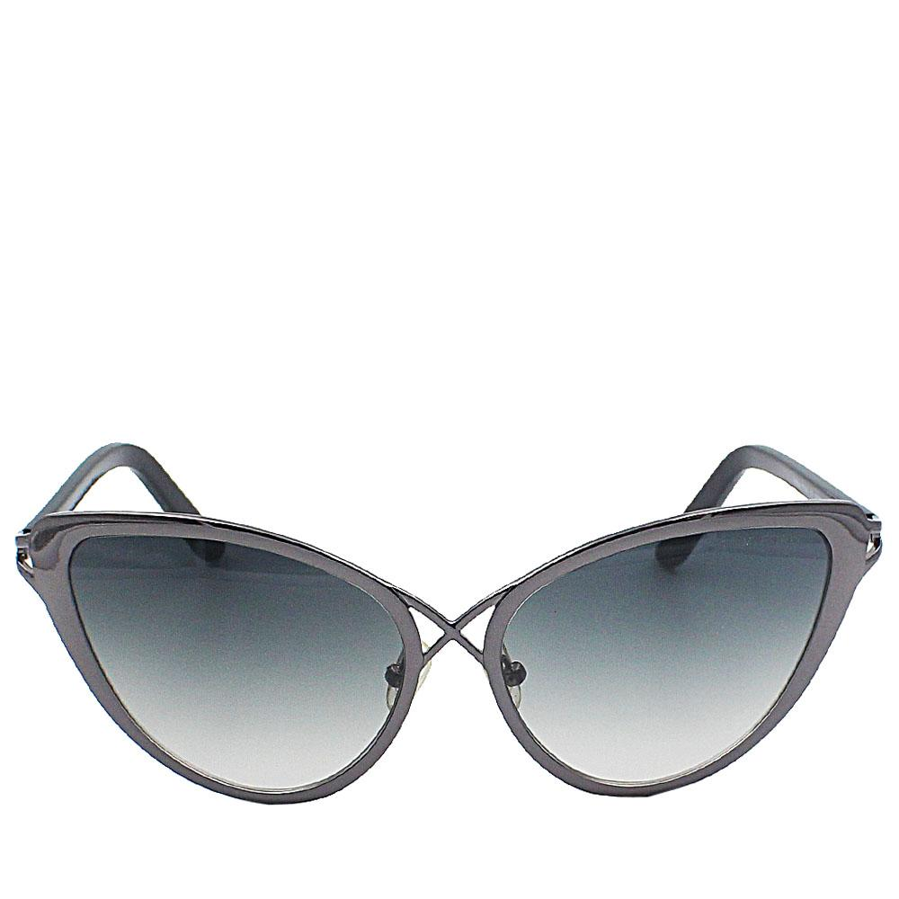 Olive Cat Eye Dark Lens Sunglasses