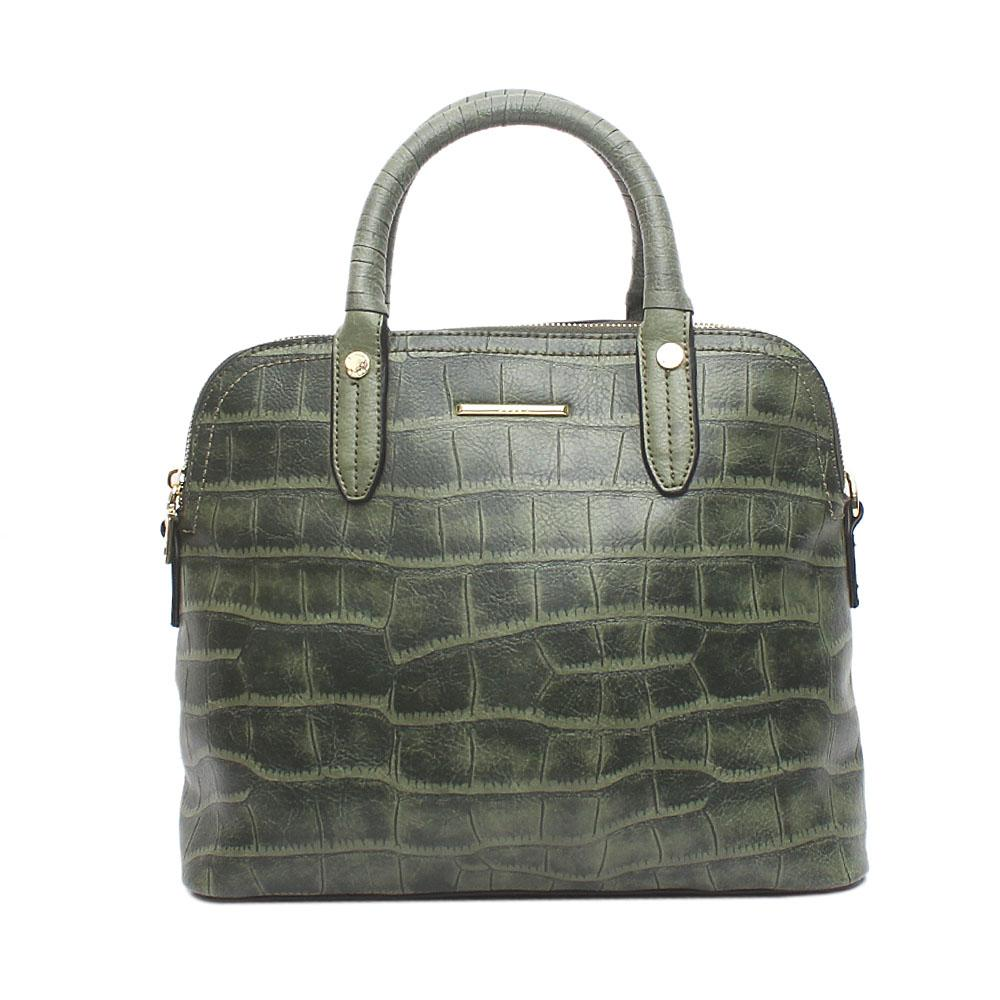 Susen Melrose Army Green Leather Tote Bag