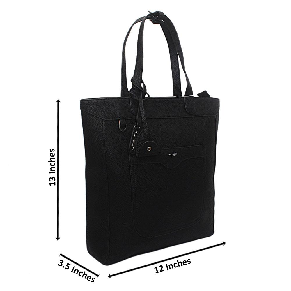 Black Saffiano Leather Handbag