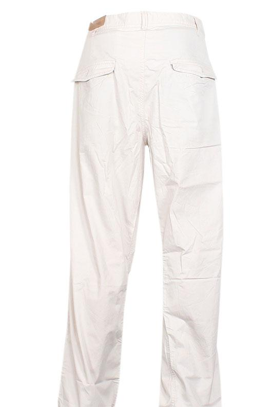 Timberland Off White Cotton Men Trouser
