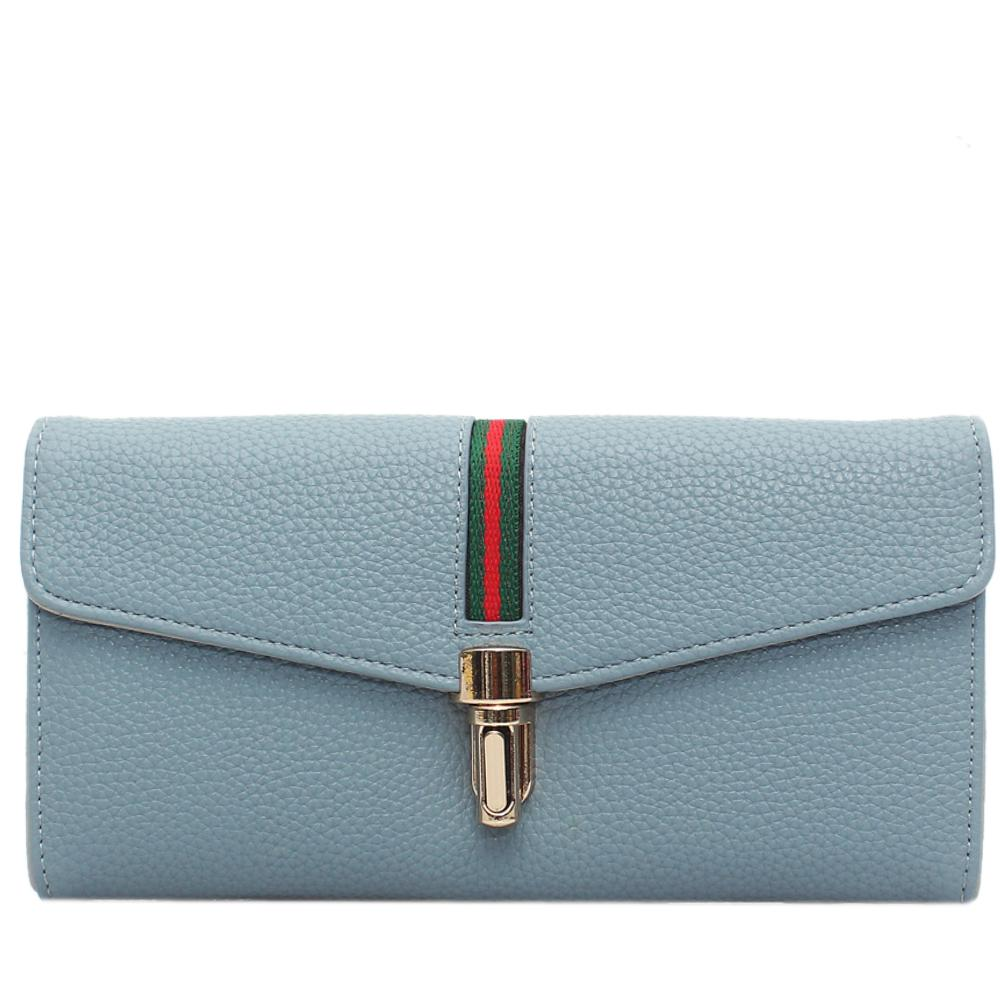 Sky Blue Leather Ladies Wallet