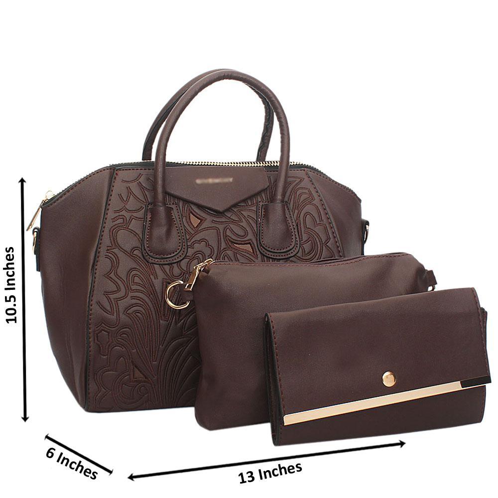 Brown Zoe Tuscany Leather Tote Handbag