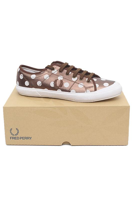 Fred Perry Bronze White Lace Up Men Sneakers