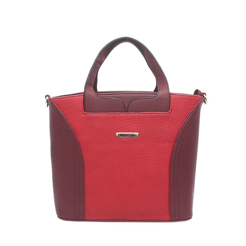 London Style Ghost Red Wine Leather Handbag