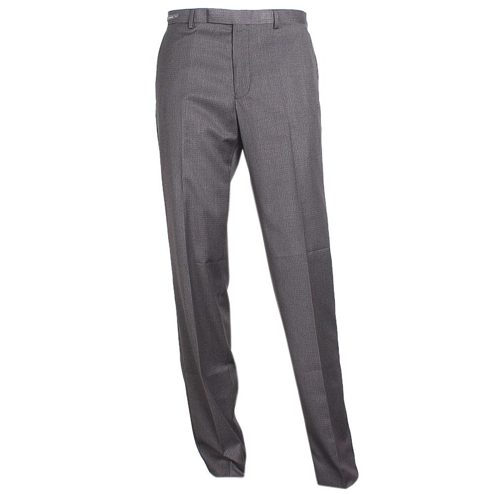M&S Collection Charcoal Mix Straight Cut Men Trouser