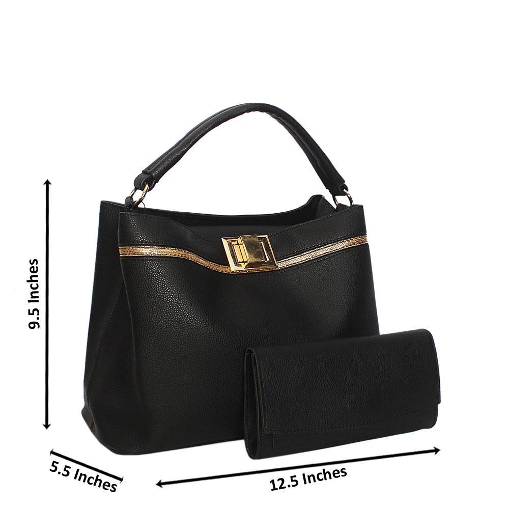 Black Keira Smooth Leather Top Handle Handbag