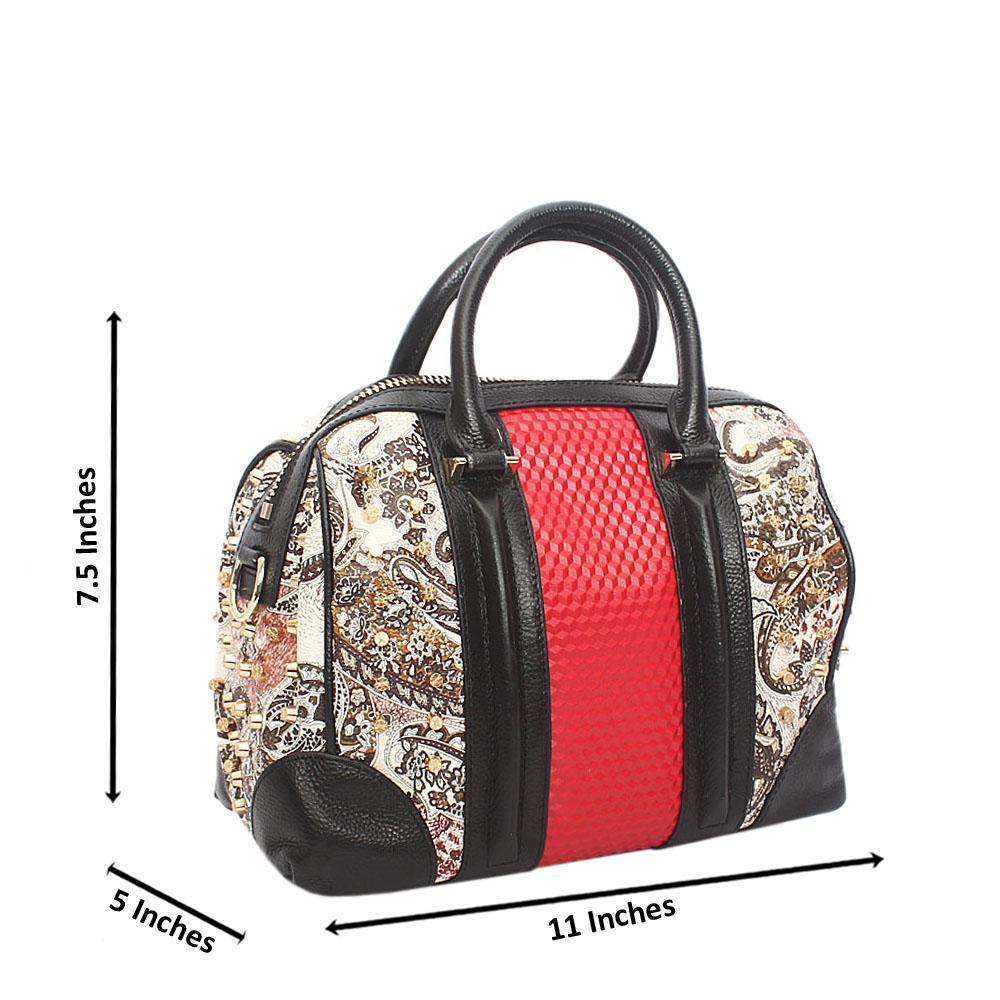 Vintage Pointy Stud Lady Montana Leather Handbag