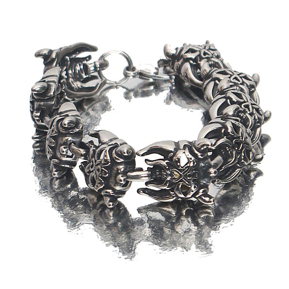 Silver Black Titan Steel Bracelet