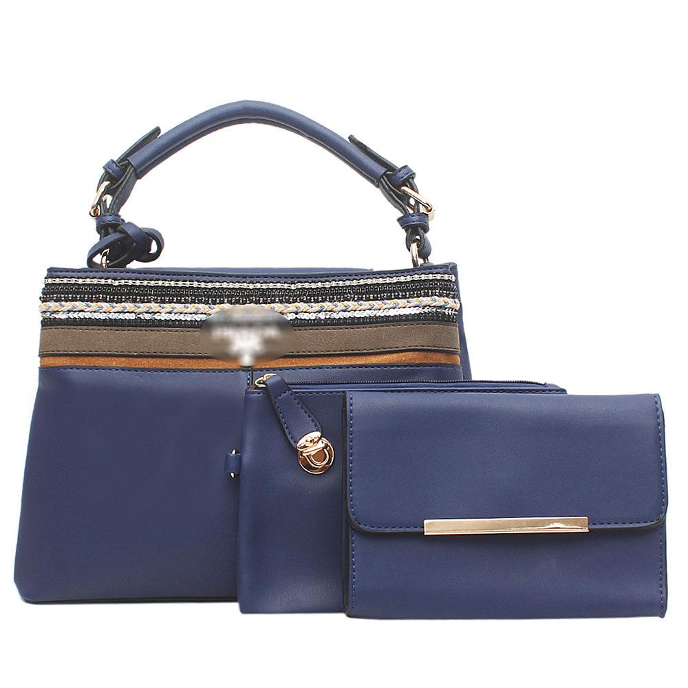 Flints Candy Blue Leather 3 in 1 Bag