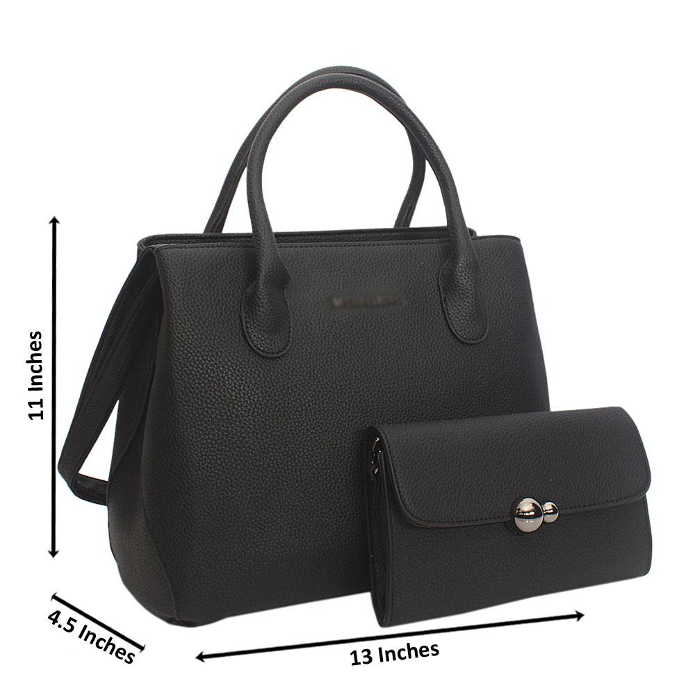 Black Tuscany Leather Tote Handbag