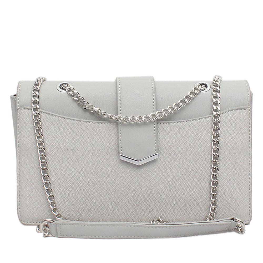 Grey Leather Small Cross Body Bag