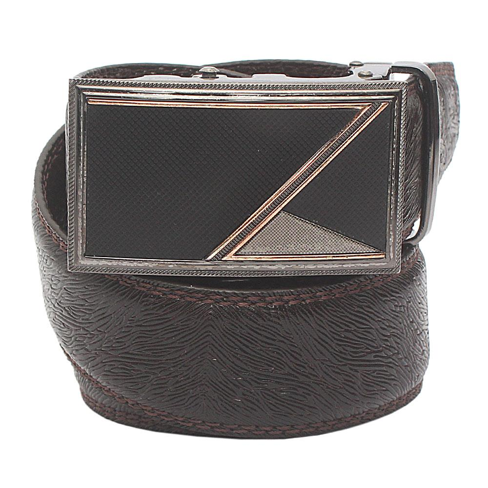 Brown Animal Skin Premium Leather Belt L 50 Inches