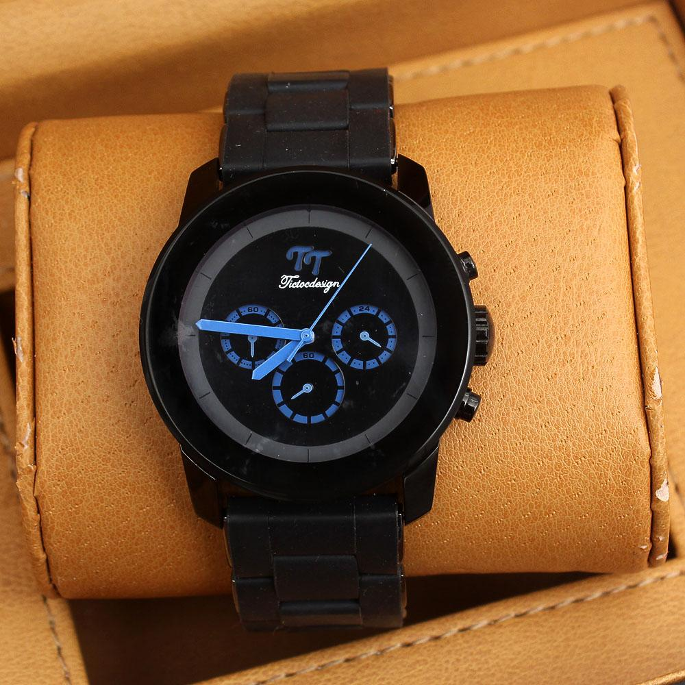 Black Rubber Mens Watch -comes in wholesale case