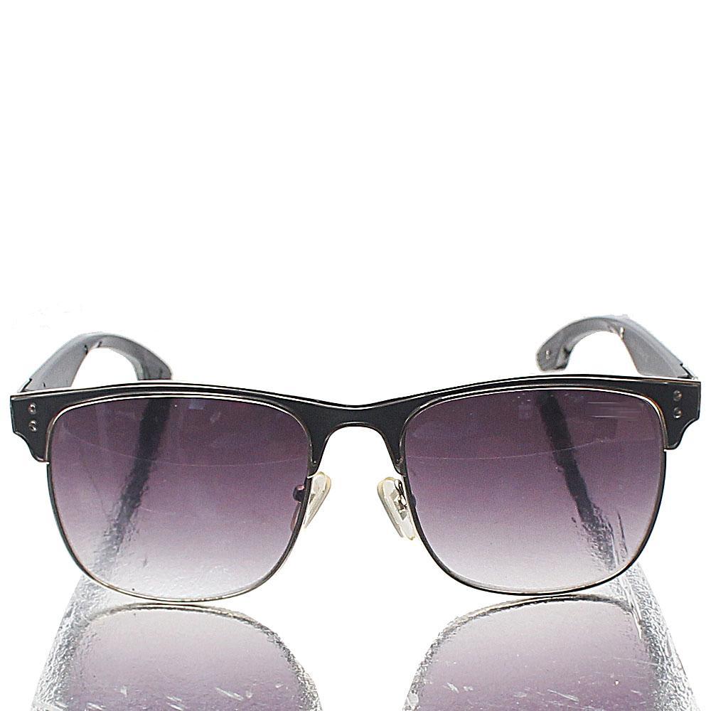 Silver Black Dark Lens Club-Master Sunglasses