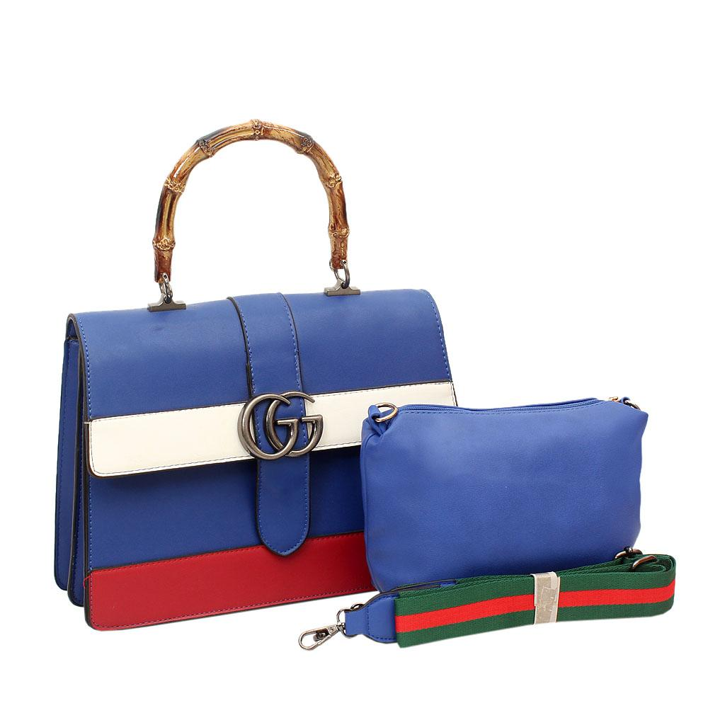 029875ca835e ... Buy Gucci Blue Leather Tote Handbag The Bag Shop Nigeria