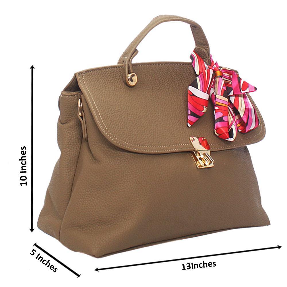 Khaki Jolie  Leather Top Handle Handbag