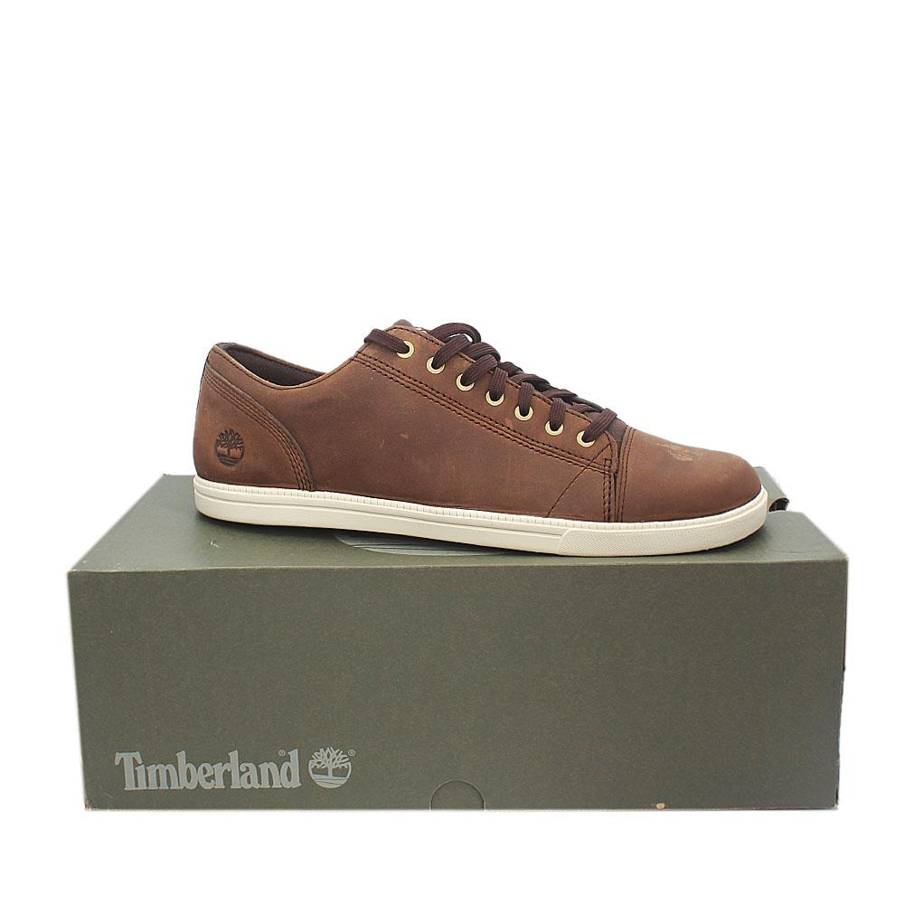 Timberland Coffee Leather Fulk Cap Toe OX Men Sneakers
