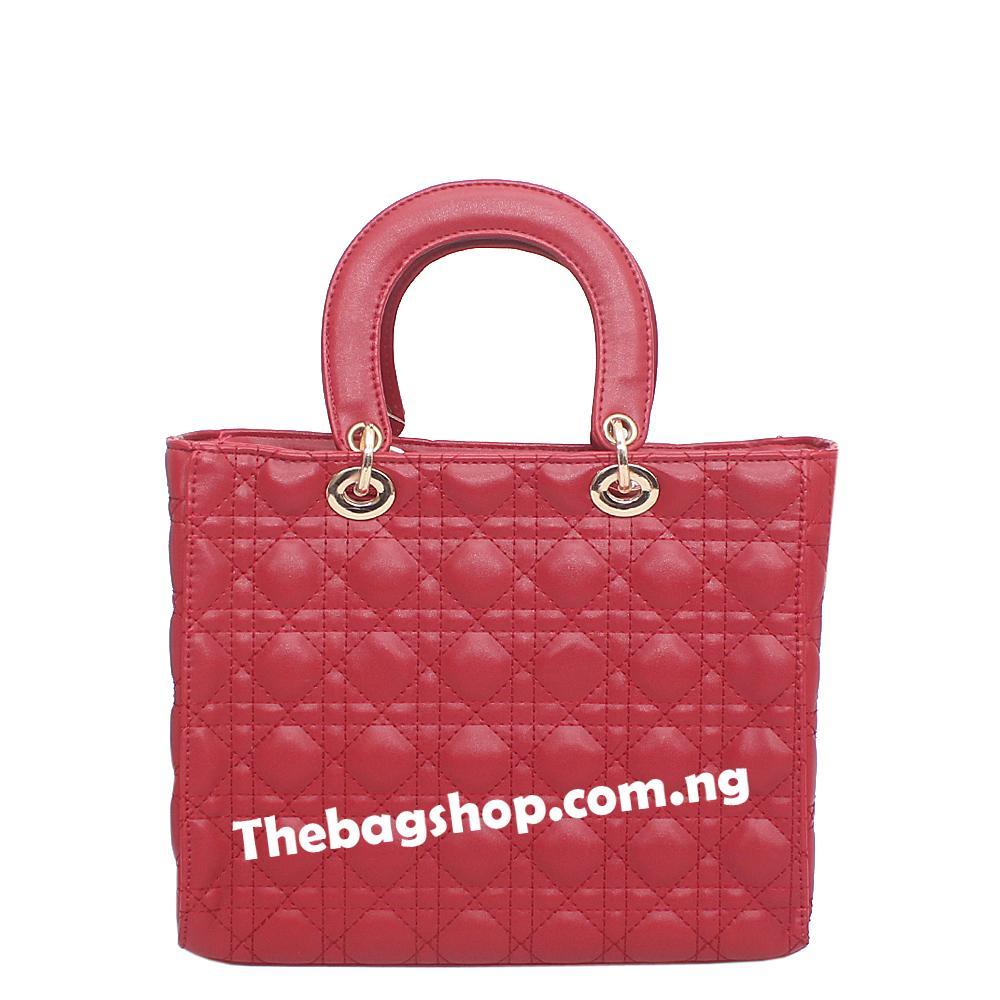Wine Leather Handle Bag