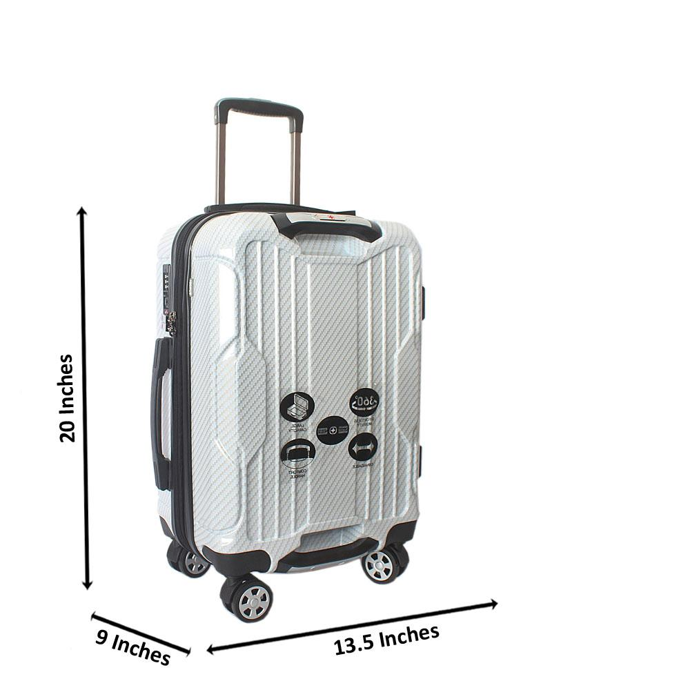 Saint Cream 20 inch  Hardshell Spinners Premium Carry On Luggage