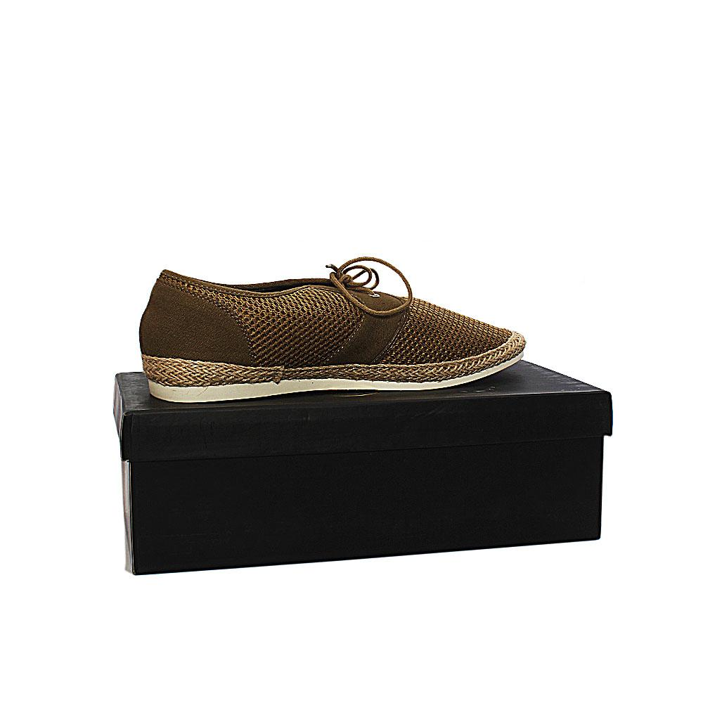 Kurt Geiger Loughton Khaki Fabric Men Sneakers