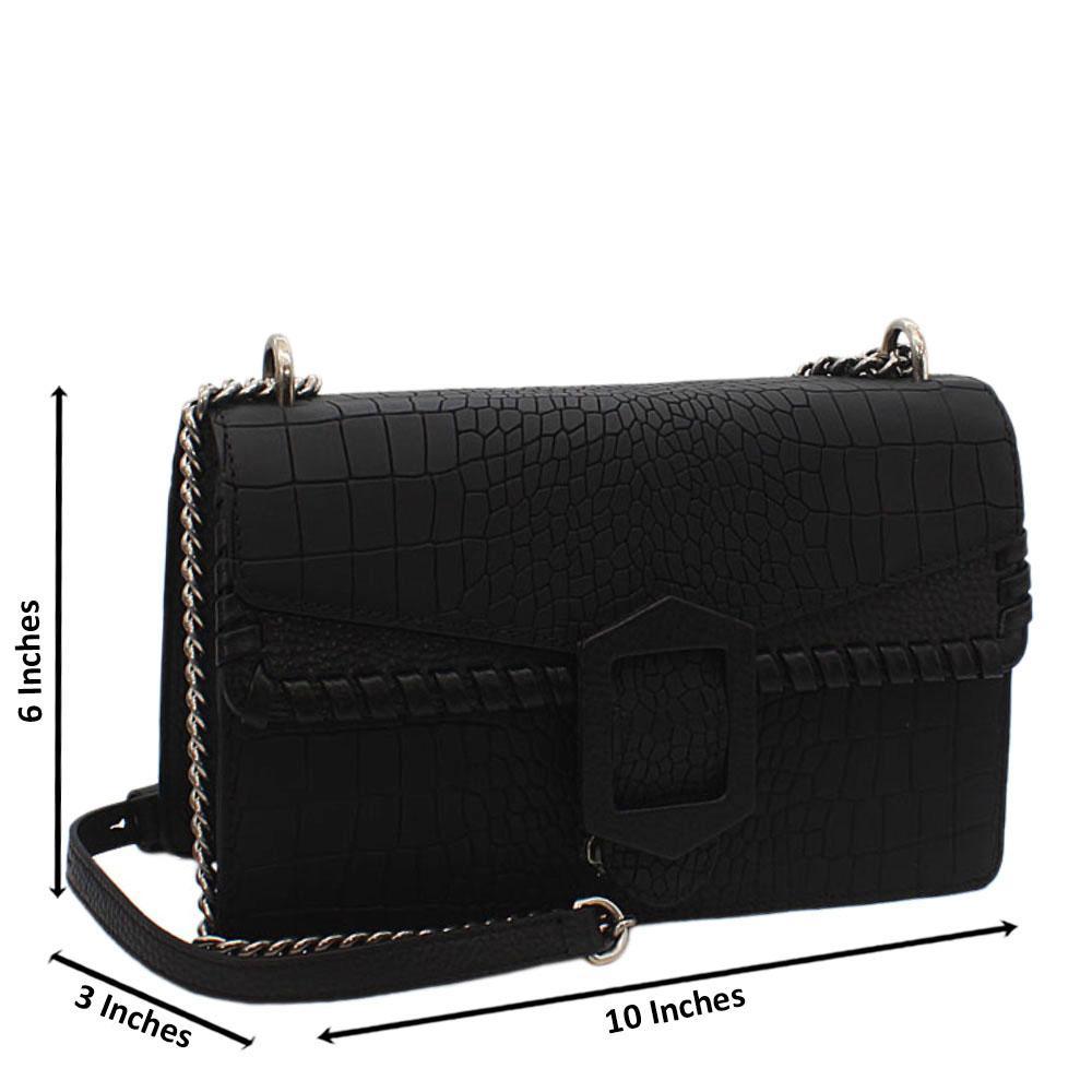 Black Dionysus Cow-Leather Crossbody Handbag