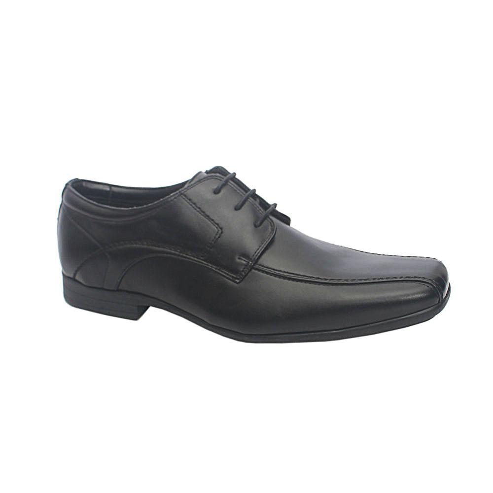 M & S Black Premium Leather Shoe