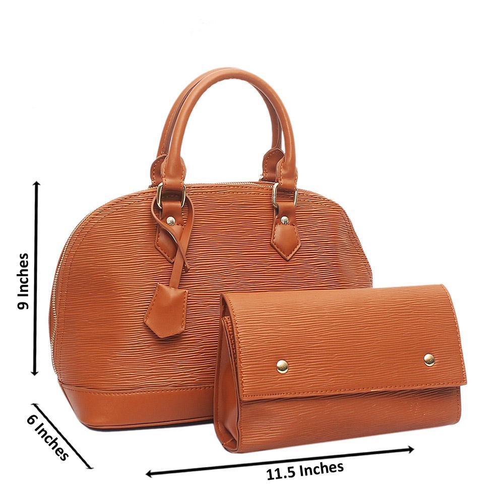 Brown Medium Alma BB Leather Bag Wt Purse