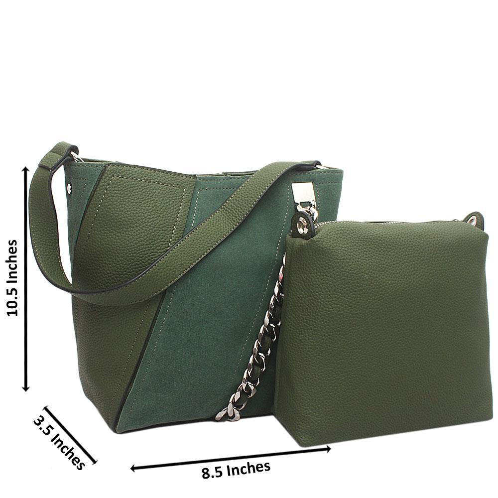 Green Leather Medium Bonita Bag