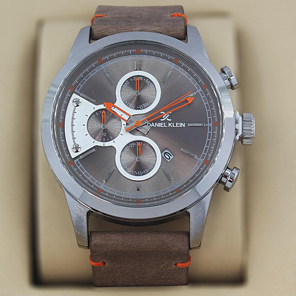 Daniel Klein Andres Khaki Leather Pilot Series Watch