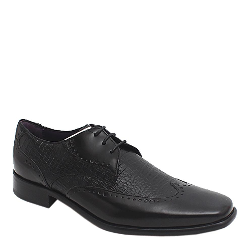 M & S Autograph Black Leather Men Brogue -Sz 42.5