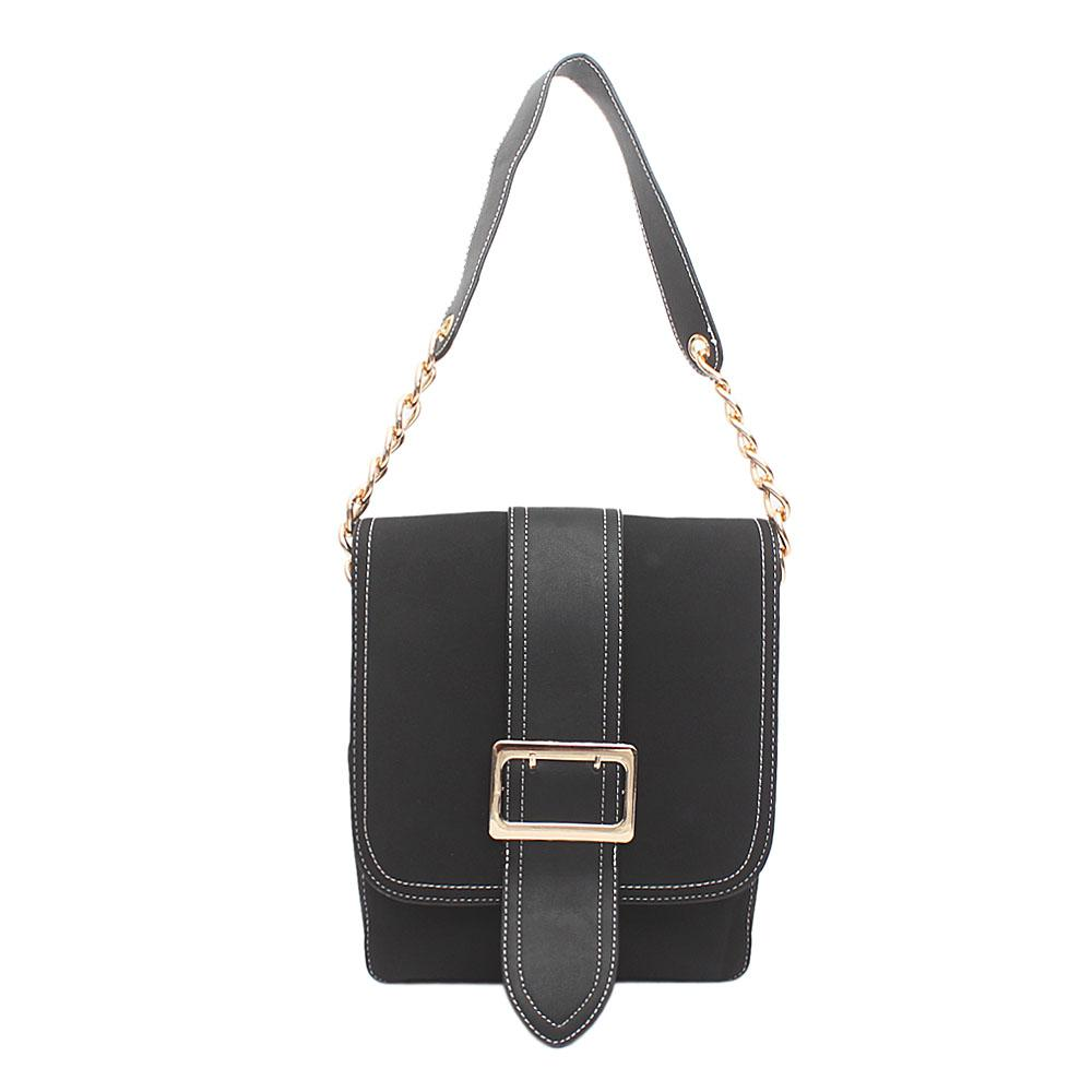London Style Black Leather Handbag