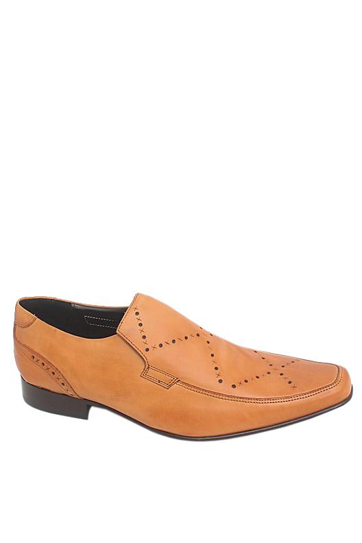 M & S Autograph Camel Brown Leather Men Shoe