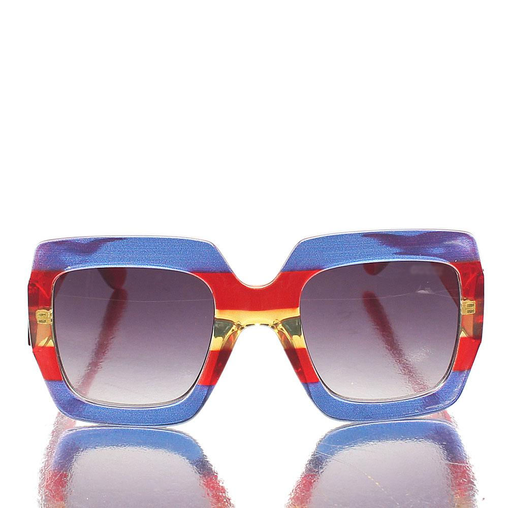 Cutie Purple Red Glitz Oversized Sunglasses