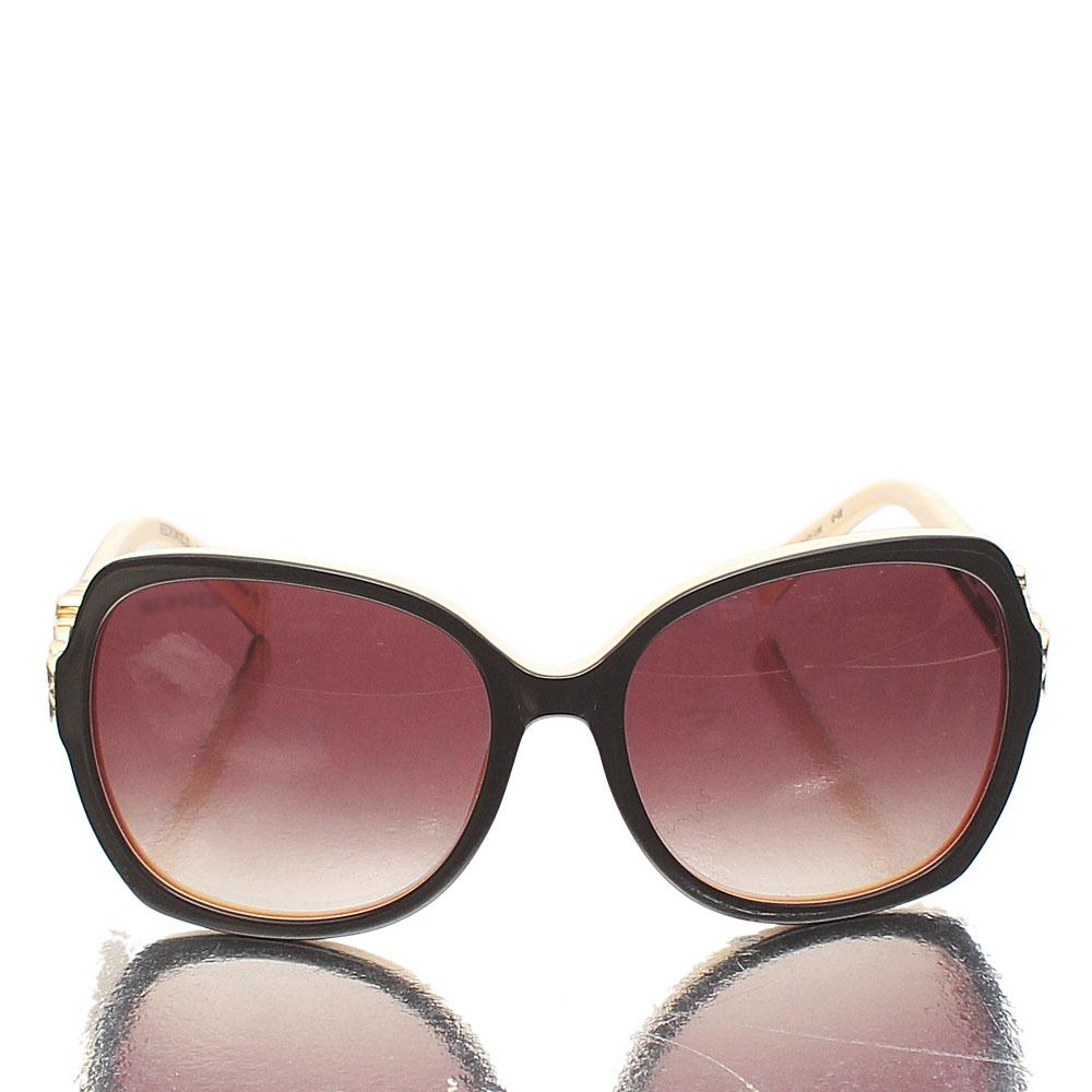 Cream Brown Butterfly Sunglasses