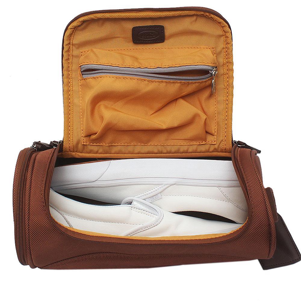 Brown Bricks Fabric Shoe Bag