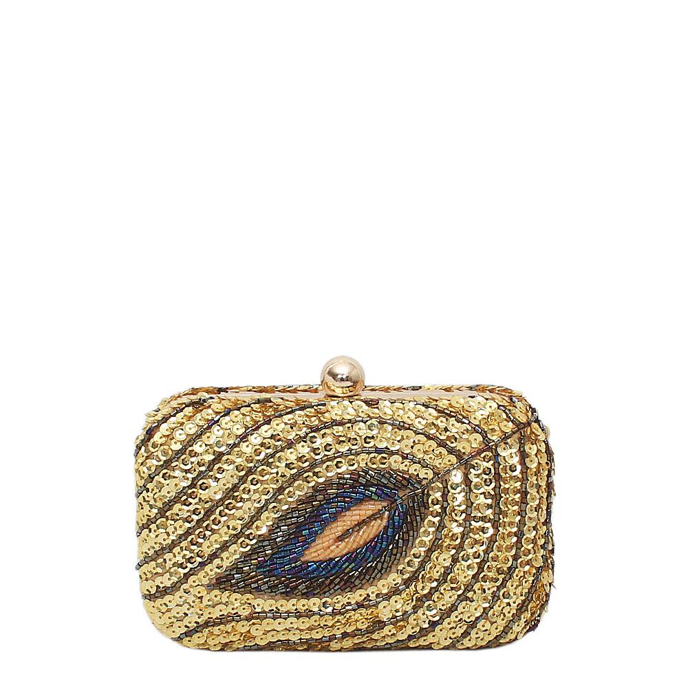 Gold Sequence Clutch Purse