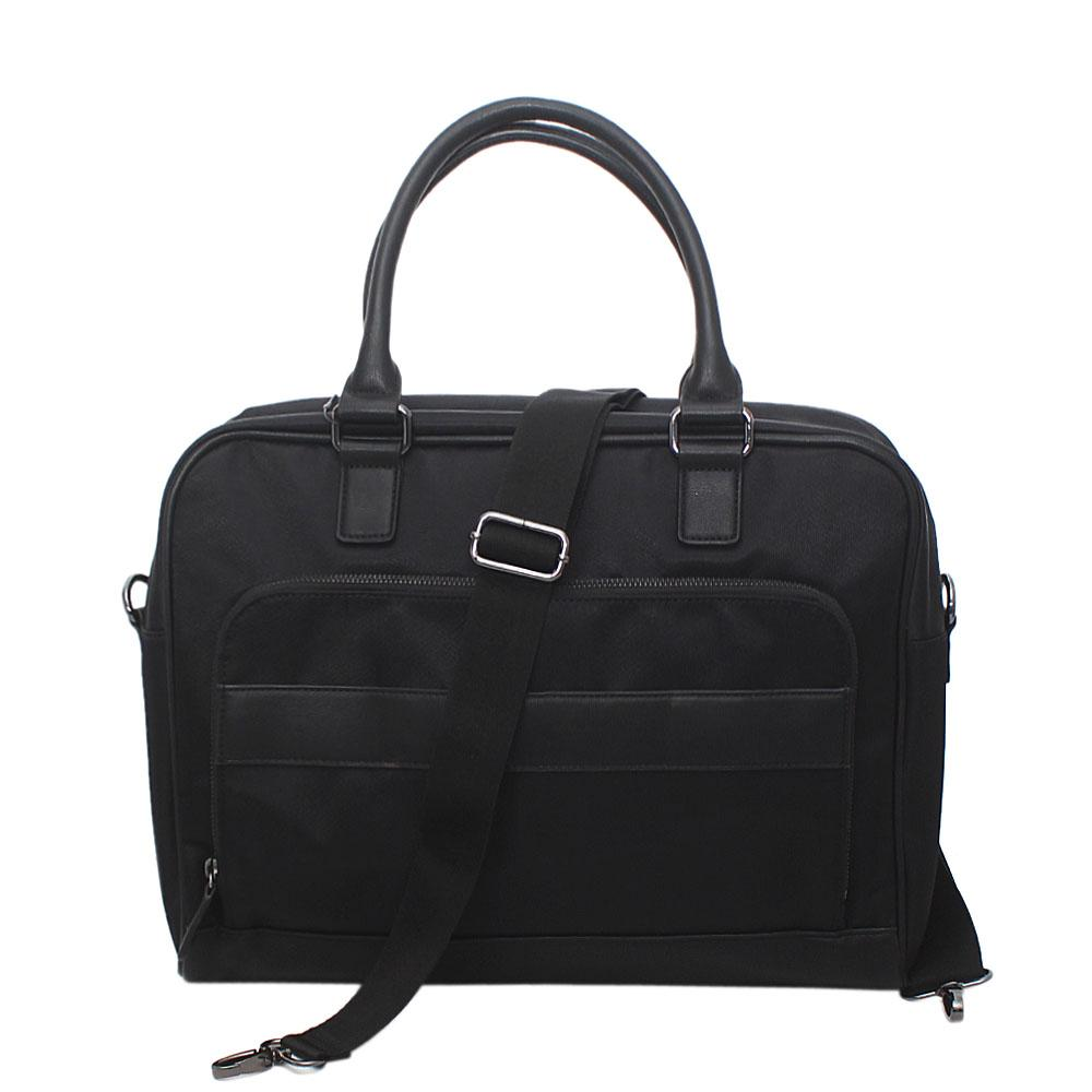 M&S Black Classic Fabric Leather Briefcase