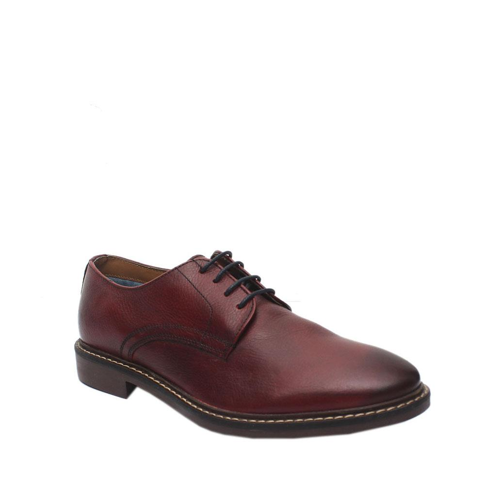 M & S Wine Leather Shoe