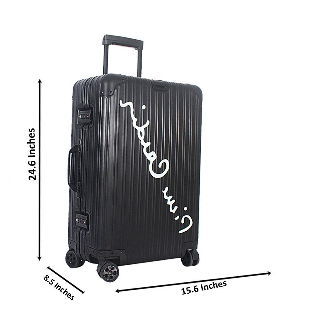 Black 24 Inch HardShell Medium Luggage Wt TSA Lock
