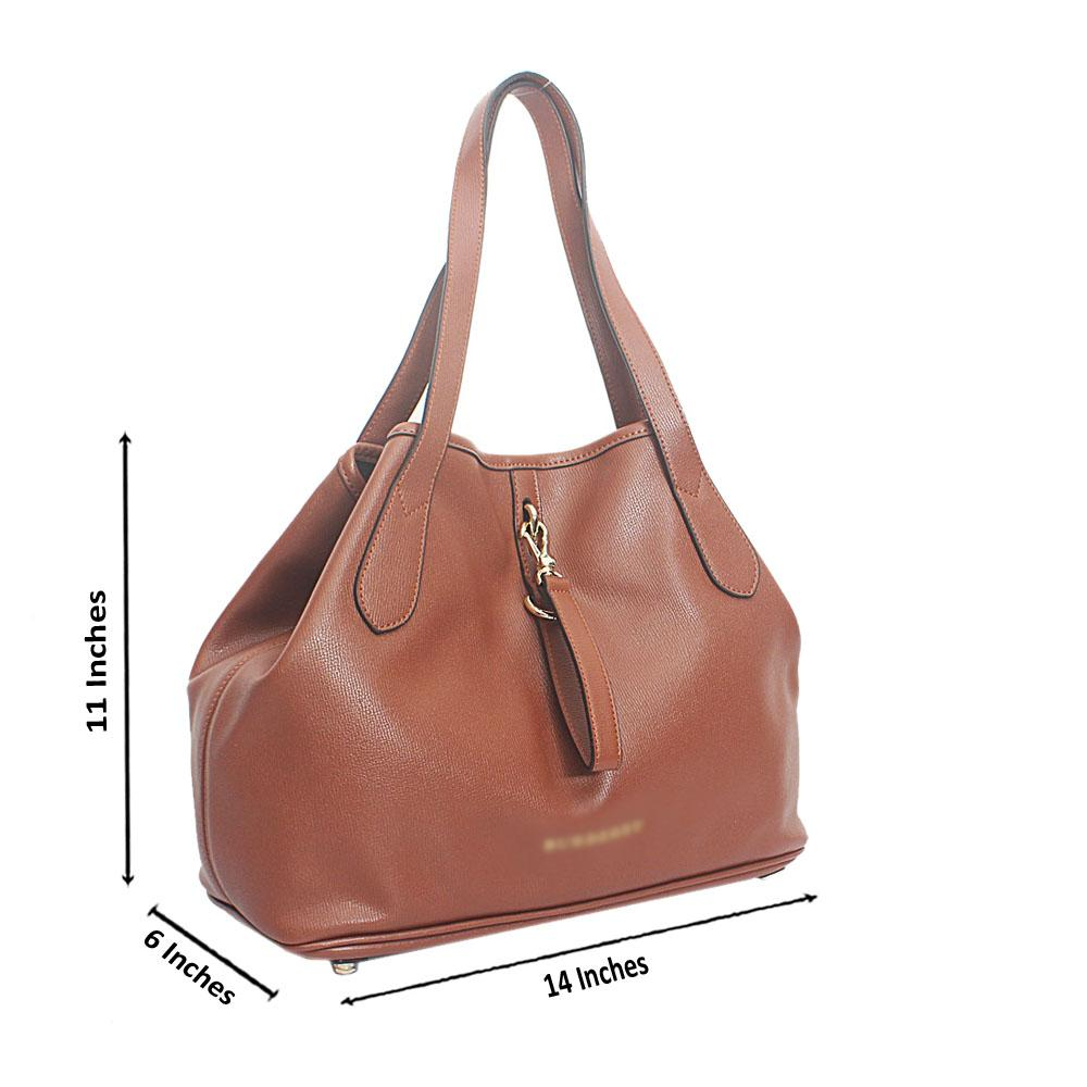 Brown Cow-Leather Shoulder Bag