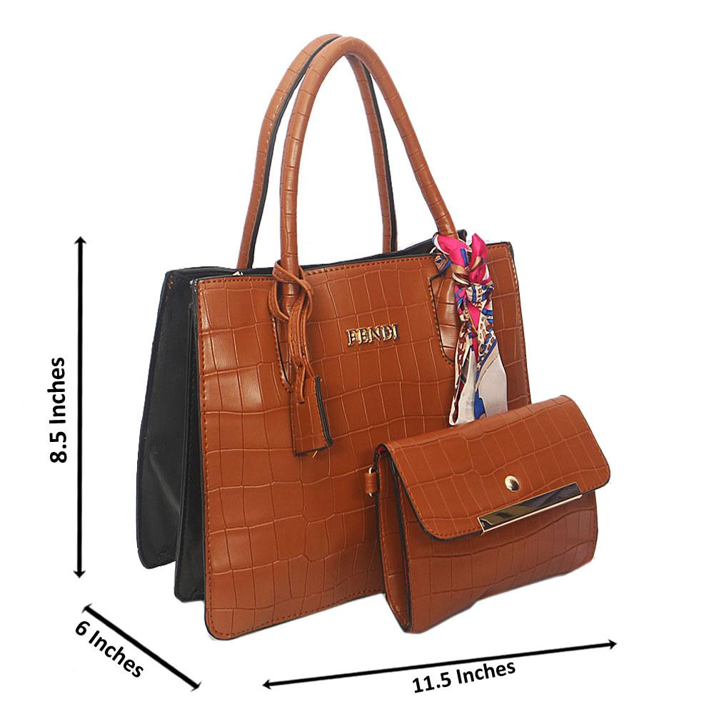 Brown Smooth Lover Leather Tote Handbag