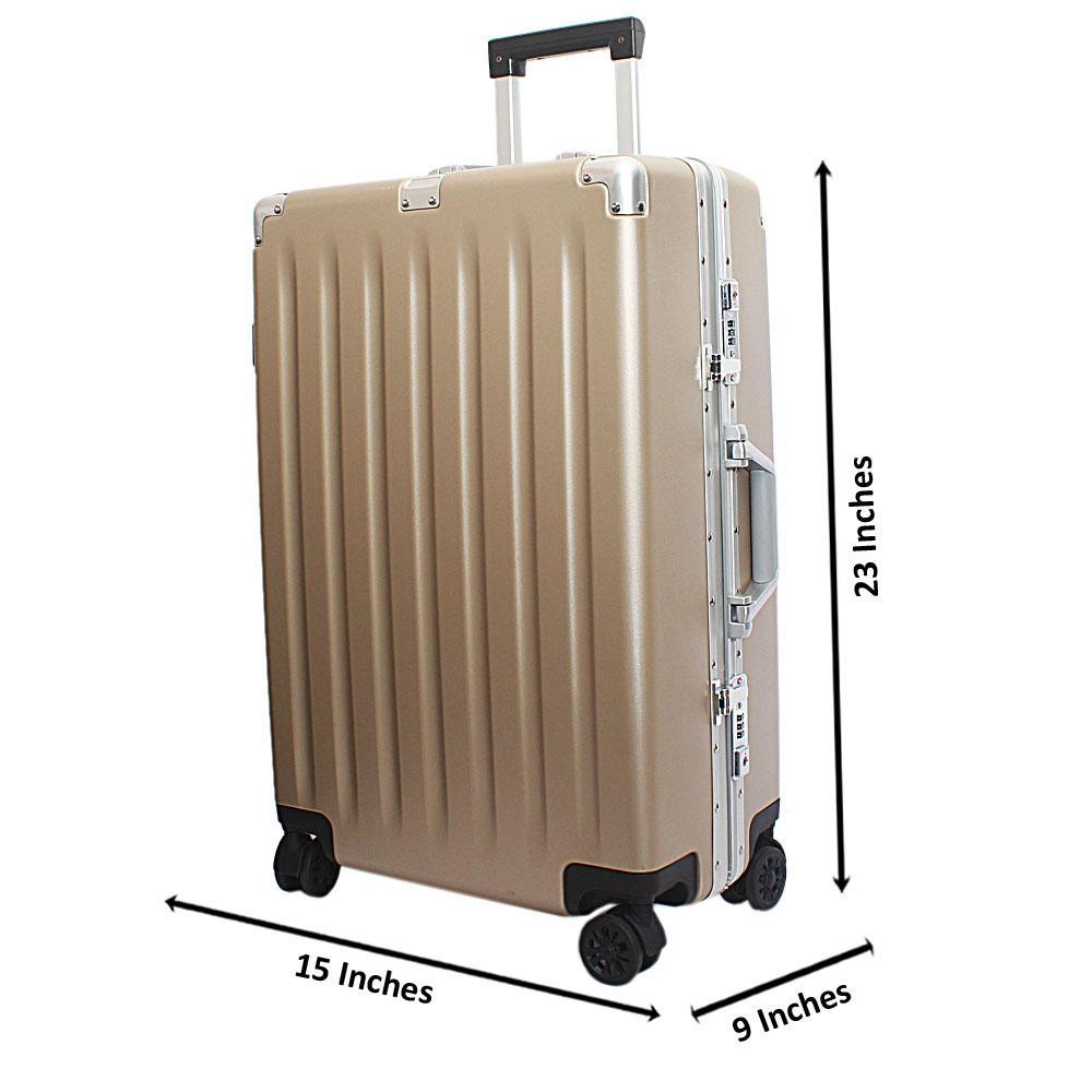 Beige 24 Inches Medium Hardshell Suitcase Wt TSA Lock