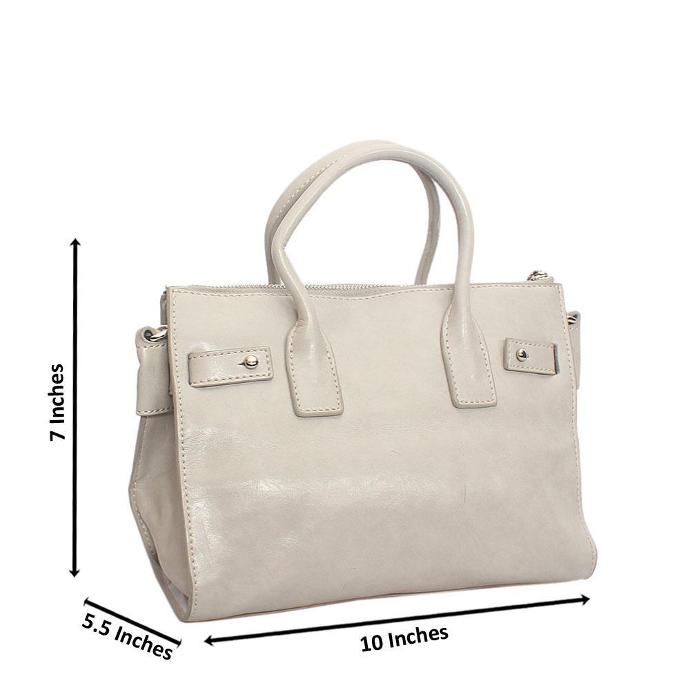 Classy Grey Small Tuscany Leather Handbag